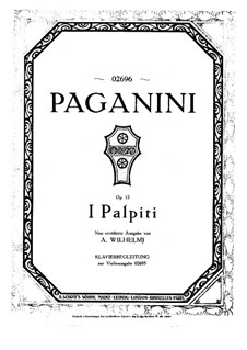 Variations on 'I Palpiti' for Violin and Piano, Op.13: Score by Niccolò Paganini