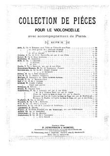 Two Pieces for Cello and Piano, Op.38: No.2 Sonnet – score by Semën Panchenko