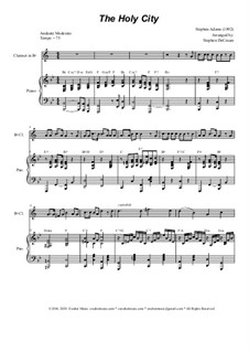 The Holy City: For Bb-Clarinet solo and piano by Stephen Adams