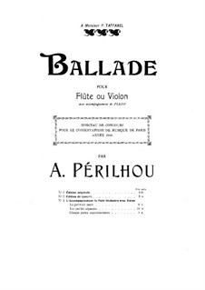 Ballade for Flute, Harp and Orchestra: Full score by Albert Périlhou