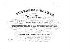 Theodoren-Walzer, Op.40: Theodoren-Walzer by Friedrich Leopold von Plessen