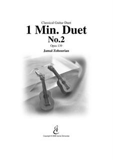 1 Min Duet No.2, Op.139: For two guitars by Jamal Zohourian