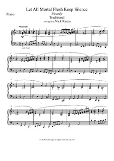 Let All Mortal Flesh Keep Silence: For B Flat clarinet and piano – piano part by folklore