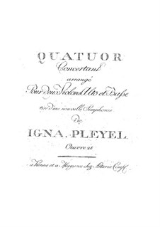 String Quartet in B Flat Major, Op.28: String Quartet in B Flat Major by Ignaz Pleyel