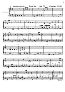 Прелюдия 11, Op.56: Прелюдия 11 by Viktor Nechaev