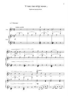 У гаю, гаю вiтру немає...: Для голоса и фортепиано by folklore