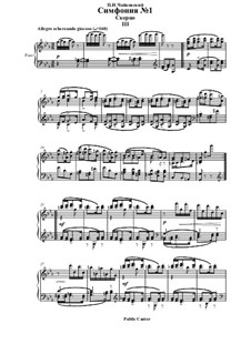 Symphony No.1 in G Minor 'Winter Daydreams', TH 24 Op.13: Movement III, for piano by Pyotr Tchaikovsky