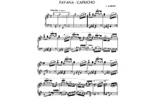 Pavana-Capricho, Op.12: For piano by Isaac Albéniz