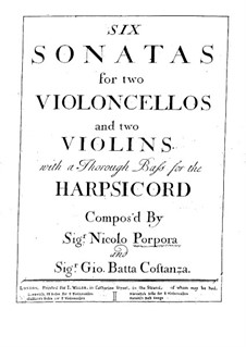 Six Sonatas for Two Violins and Basso Continuo: Violin II part by Nicola Porpora
