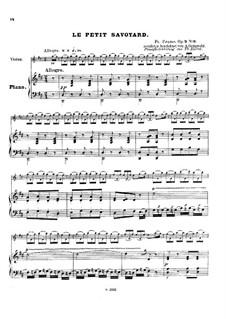 Six grandes études. Le petit savoyard, Op.2 No.6: Score by Francois Humbert Prume