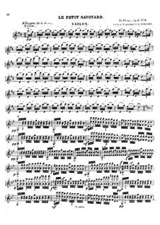 Six grandes études. Le petit savoyard, Op.2 No.6: Solo part by Francois Humbert Prume