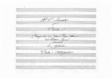 Serenade for Viola and String Quartet: Serenade for Viola and String Quartet by Cesare Pugni