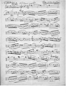 Four Pieces for Cor Anglais and Piano: No.2-4 – cor anglais part by Marie Grandval