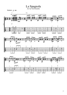 La spagnola (The Spanish Dancer): For guitar by Vincenzo di Chiara