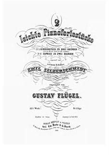 2 leichte Pianofortestücke. Kinderstück zu drei Händen, Op.22 No.1: 2 leichte Pianofortestücke. Kinderstück zu drei Händen by Gustav Flügel