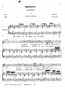 Serenade: Piano-vocal score (F Major) by Charles Gounod