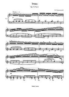 Fifteen Virtuosic Etudes, Op.72: Etude No.6 by Moritz Moszkowski