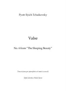 Waltz: For piano four hands by Pyotr Tchaikovsky