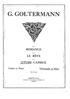 Etude-Caprice for Cello and Piano, Op.54 No.4: Score, solo part by Georg Goltermann