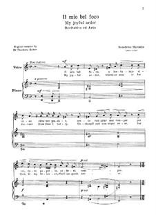 Il mio bel foco: For voice and piano by Benedetto Marcello