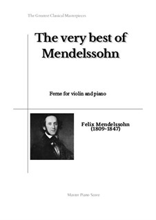Twelve Songs, Op.9: No.9 Ferne, for violin and piano by Felix Mendelssohn-Bartholdy