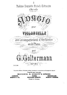 Adagio for Cello and Orchestra, Op.83: Adagio for Cello and Orchestra by Georg Goltermann