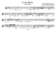 Ave Maria: Vocal score by Giovanni da Palestrina