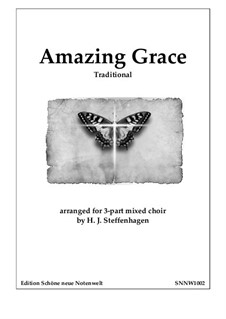 Amazing Grace: 3-part Choir SAB by folklore