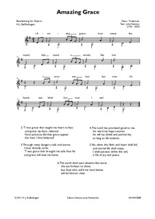 Amazing Grace, for One Instrument: For easy guitar by folklore