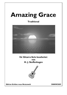 Amazing Grace, for One Instrument: For guitar by folklore