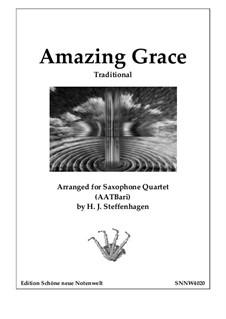 Amazing Grace: Saxophone Quartet (AATBar) by folklore