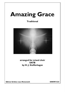 Amazing Grace: Choir (SATB) by folklore