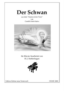 The Swan: For piano by Camille Saint-Saëns