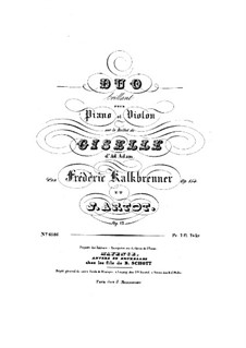 Brilliant Duo on Themes from Ballet 'Giselle' by A. Adama, Op.12: Score by Alexandre Joseph Artôt