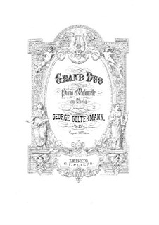 Grand Duet for Cello (or Viola) and Piano, Op.25: Viola part by Georg Goltermann