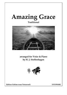 Amazing Grace: For voice and piano by folklore