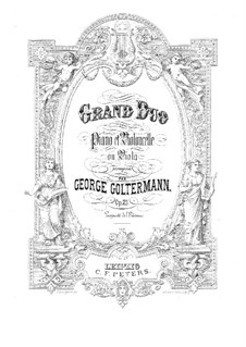 Grand Duet for Cello (or Viola) and Piano, Op.25: Score by Georg Goltermann