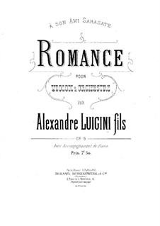 Romance for Violin and Piano, Op.9: Score by Alexandre Luigini