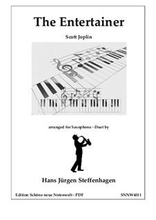 The Entertainer: For saxophone duet by Scott Joplin