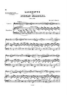 Sonata for Violin and Basso Continuo in D Major: Movement II. Arrangement for cello and piano by Pietro Nardini