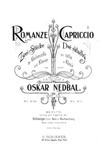 Two Pieces for Cello and Piano, Op.12: No.1 Romance – solo part by Oskar Nedbal