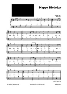 Happy Birthday to You: For easy piano by Mildred Hill