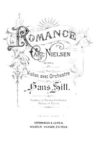 Fantastic Pieces for Oboe and Piano, FS 8 Op.2: No.1 Romance. Version for violin and piano by Carl Nielsen