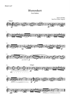 The Flower Duet: For four horns by Léo Delibes