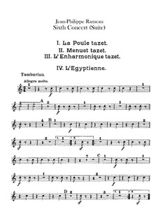 Harpsichord Suite in G Minor, RCT 6: For chamber orchestra – tambourine part by Jean-Philippe Rameau
