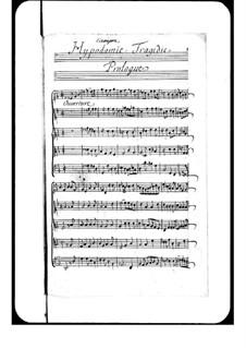 Hippodamie: Prologue by André Campra