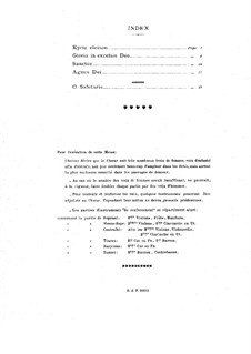 Mass for Three Voices: Vocal score by André Caplet