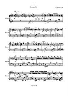 Соната No.1: Часть III by Oleg Vasilyevich Trunnikov