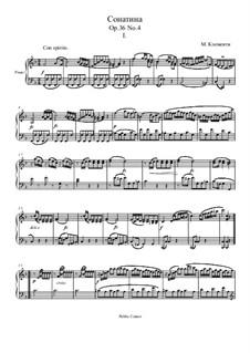 Sonatina No.4: Movement I by Muzio Clementi