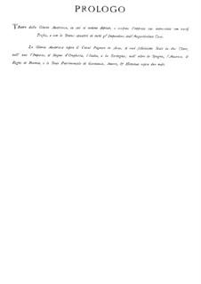 Il pomo d'oro (The Golden Apple): Prologue by Pietro Antonio Cesti